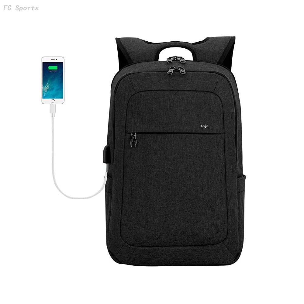 Lightweight Laptop Backpack USB Port 15.6 Inch Business Slim Commute Travel Bags for man