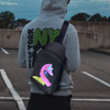 Amazon Hot-selling Smart LED Display sling bag fashionable Advertising Led Backpack