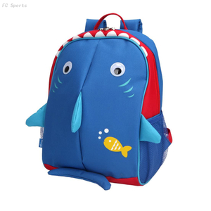 Little Kids School Backpack Reflective Fins school bag kids
