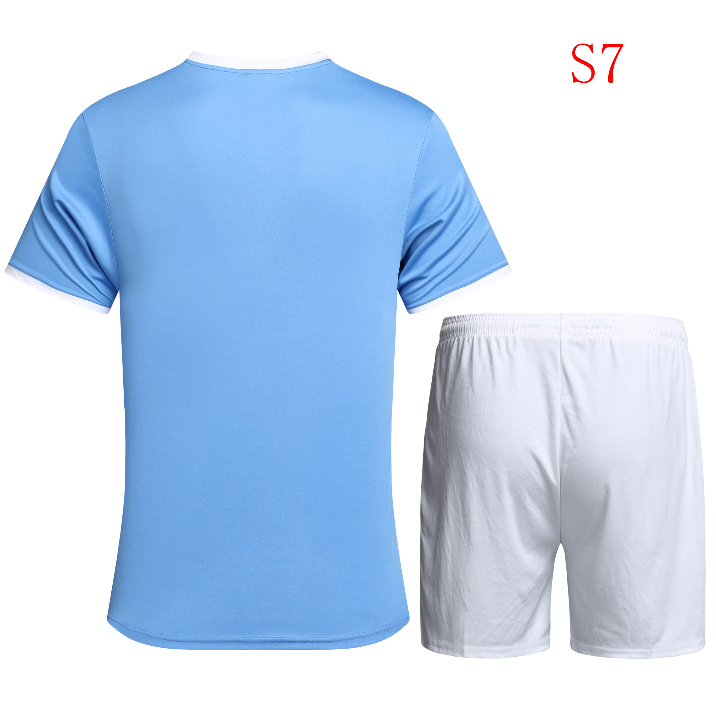 Soccer jerseys football jerseys and shorts, stock, small MOQ