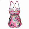 FC Sports Split Ladies Swimming Suit New Tankinic Beach Sexy Women Big Size 2019