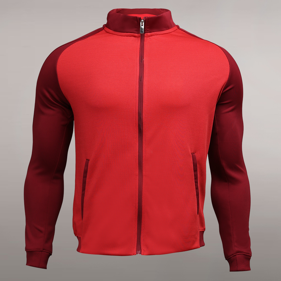Long Sleeve Soccer Training Jacket For Men Warm Up Jacket Full Zip