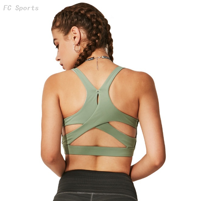 Running gather fitness sports bra No steel ring quick-drying yoga vest shockproof bra