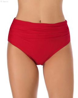FC Sports Red Swimming Briefs Solid Ladies Bottom Beach Sexy Women Summer