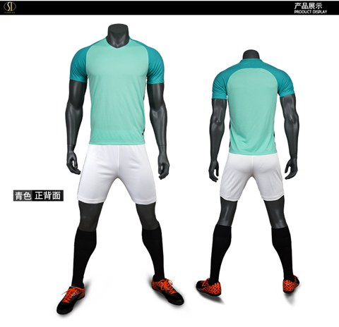 Short-Sleeve Soccer Uniforms Jersey and Shorts Set