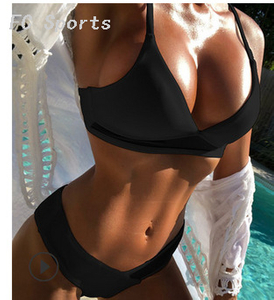 FC Sports New Split Ladies Swimming Suit Pure Salad Edge New Bikini Beach Sexy Swimming Suit
