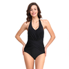 FC Sports Wear Nylon Material Monokini Bodysuit Women Sexy Back Hanging Neck One-Piece Swimsuit Beachwear