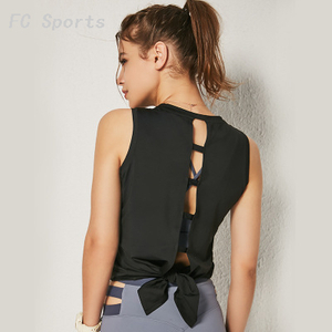 Women's Yoga Vest Sexy Back Hollow Sleeveless Sports Top
