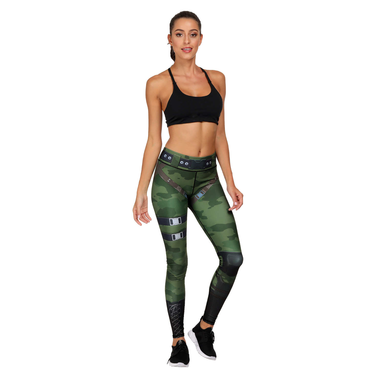 Printed Yoga Pants High Waist Fitness Plus Size Workout Leggings for Women Yoga Gym Atheletic Pants, Small Order, Stocklots,CAMO AOP