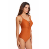 FC Sports Swimwear Monokini Bodysuit Women Fashion Chest Tethers One-Piece Swimsuit Sexy Beachwear