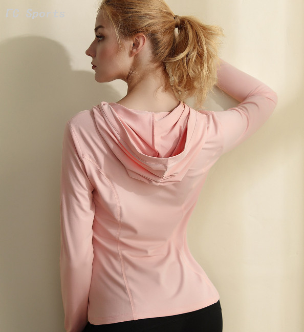 Women's Running Hoodie Sports Long Sleeve Breathable and Quick-drying Fitness Wear Yoga Wear
