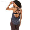 Two-in-one sports fitness vest women gathered cross beauty back sand bra loose yoga clothes