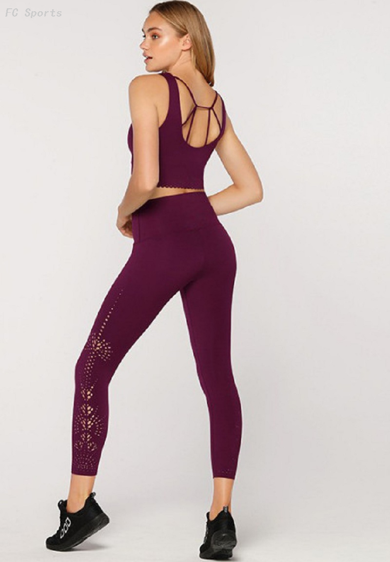 Yoga clothing suit yoga pants sports fitness bra running fitness two-piece sportswear