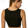 High elastic quick-drying knotted ribbed bra crop top fitness running yoga bra sports vest